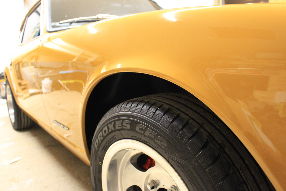 Datsun 240z customized paint with micron count